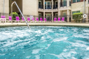 Picture yourself relaxing in this outdoor hot tub at Varela Westshore